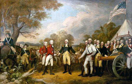 Surrender of John Burgoyne at the Battle of Saratoga