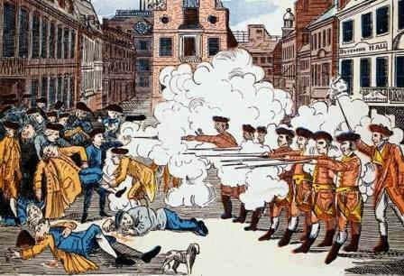 Boston Massacre printed by Paul Revere