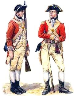 Red Coat Uniform Revolutionary War