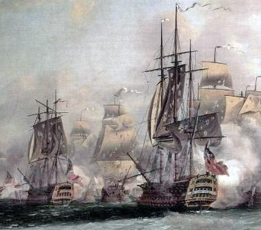 French ships - Siege of Savannah