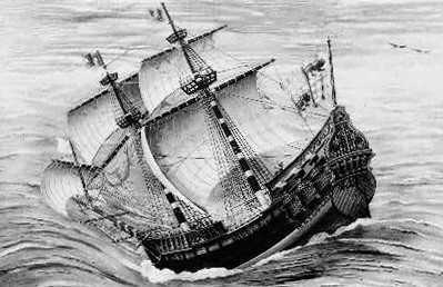 The Grande Hermine ship of Jacques Cartier