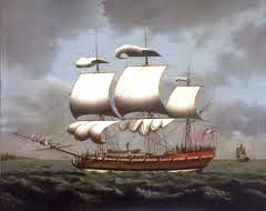 The system known as triangular trade involved what countries