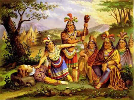 Powaton Indians - Pocahontas saves John Smith