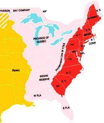 Maps Of Colonial America - Us map 1763