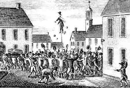 Protesting against the Stamp Act