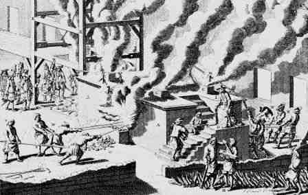 A Reverberatory furnace OF 1647 used to melt iron