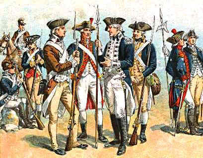 Pictures of Continental Army