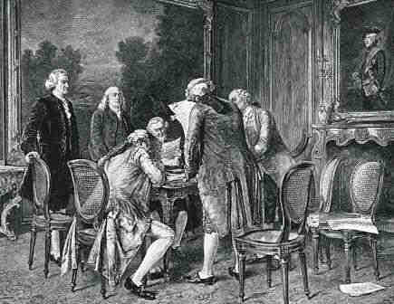 Signing the Treaty of Paris