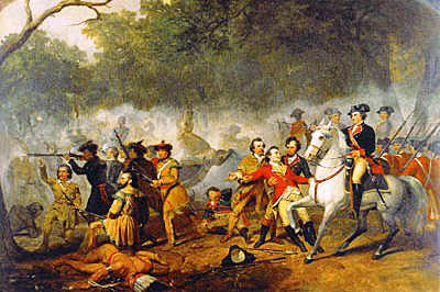 Picture of George Washington during the French Indian Wars